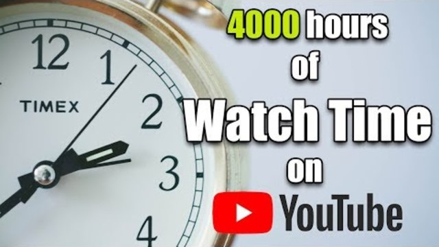 How to Mathematically (and Practically) Get 4000 Hours of Watch Time