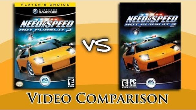 Need For Speed Hot Pursuit 2 Gamecube Vs Pc Comparison