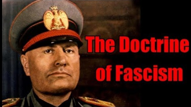 benito mussolinis doctrine of fascism Benito mussolini was the fascist dictator of italy from 1922 to 1943 mussolini created an anti-democratic, fascist state in italy through the use of propaganda by using his total control of the media, he disassembled the existing democratic government system mussolini was born in predappio, near.