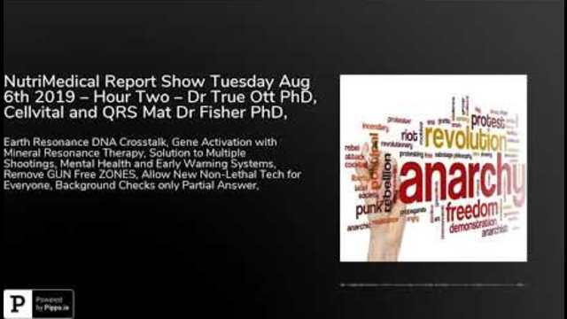NutriMedical Report Show Tuesday Aug 6th 2019 – Hour Two ...