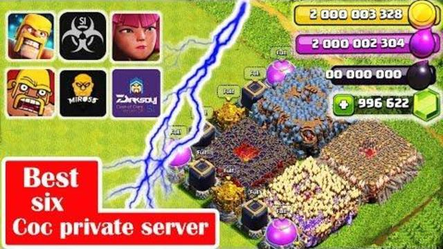 Clash Of Clans Private Servar 11 651 10 Mod Apk Unlimited gems