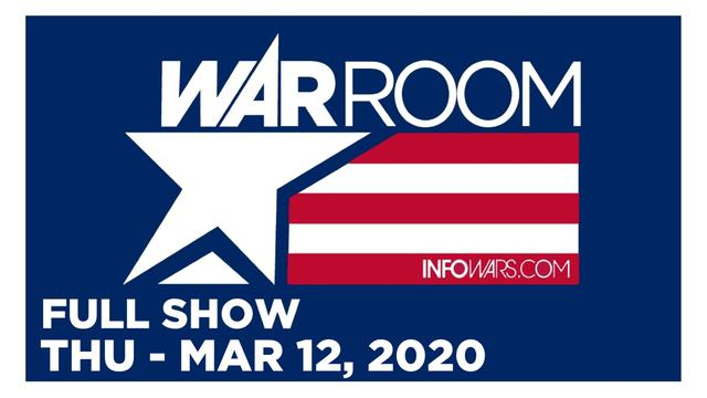 1 WAR ROOM (FULL SHOW) THURSDAY 3/12/20 • MILO, DAVID HARRIS JR., TOM PAPPERT, HARRISON SMITH, NEWS