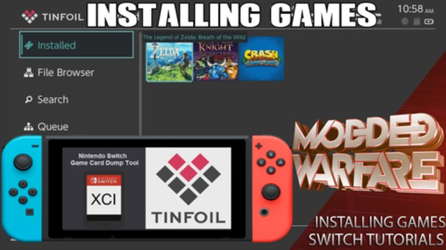 Switch Tutorials #2 Installing Games ( XCI  NSP) Game Card Backups