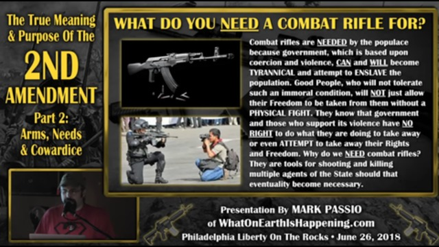 Mark Passio - The True Meaning & Purpose Of The 2nd Amendment - Part