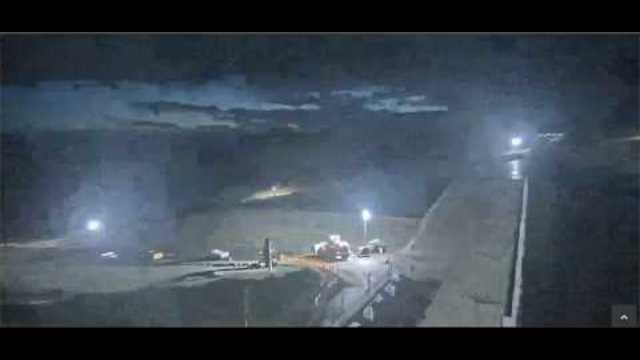 Oroville Dam Live Cam - Yes, They Are Working At Night - Doesn't