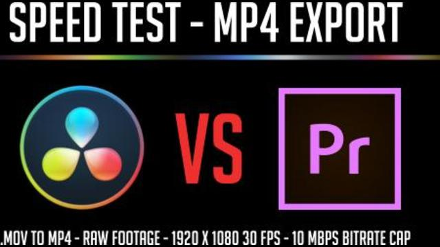 Resolve 15 vs Premiere 2019 MP4 Export Speed Test Results