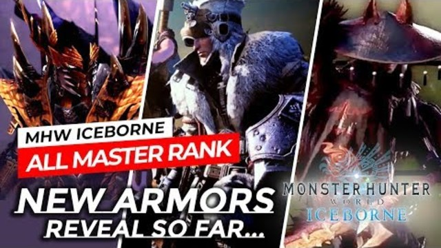 MHW ICEBORNE - ALL MASTER RANK ARMORS AND LAYERED REVEAL SO